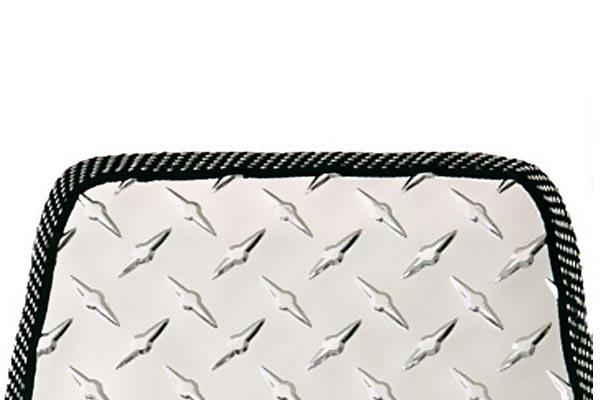 intro tech automotive diamond plate cargo mats close up