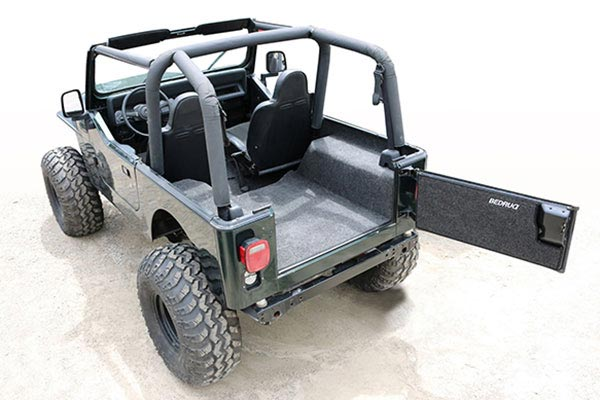 jeep bedrug cargo liners yj rear overall related