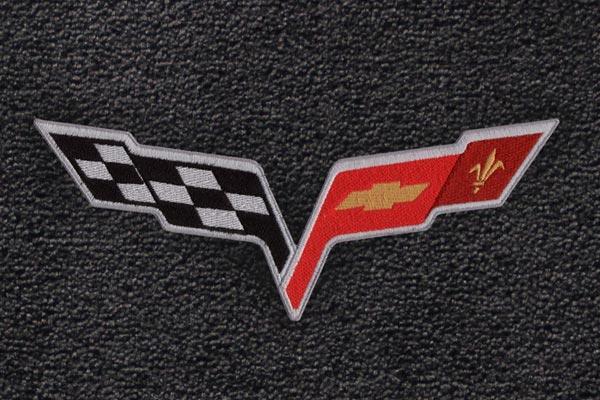lloyd mats logo cargo liners c6 corvette logo
