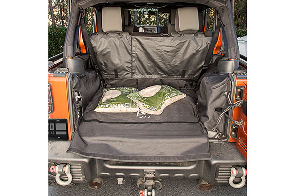 rugged ridge c3 rear cargo cover lifestyle gravel