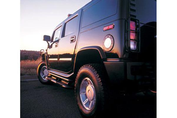 ami fuel door hummer black powder chrome