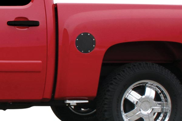 bully stainless steel fuel door covers chevy
