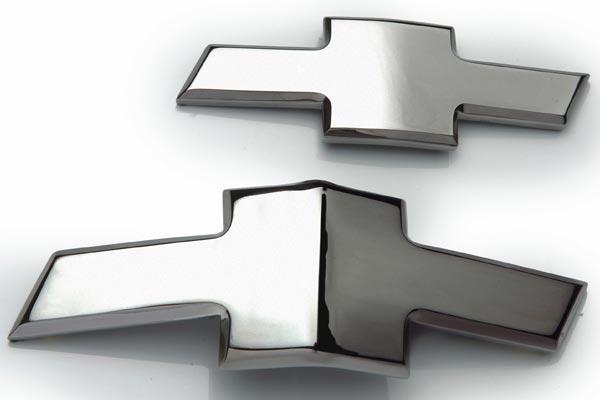 defenderworx chrome chevy grill emblems bowtie
