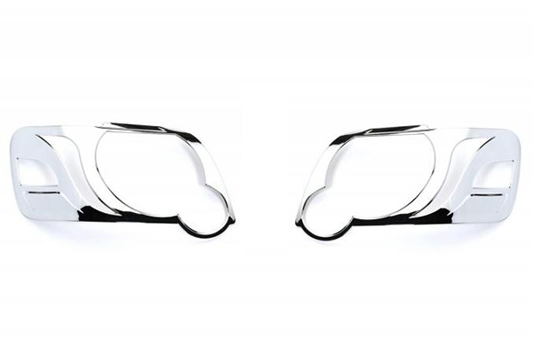 putco chrome headlight bezels off vehicle
