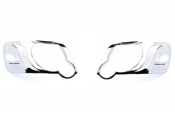 putco chrome headlight bezels off vehicle
