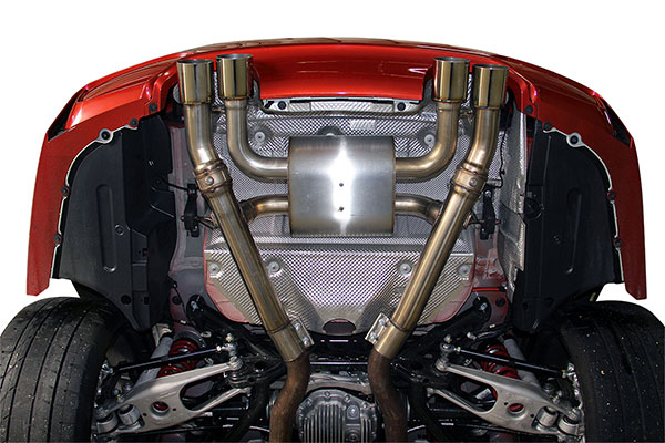 dinan exhaust systems underside m4