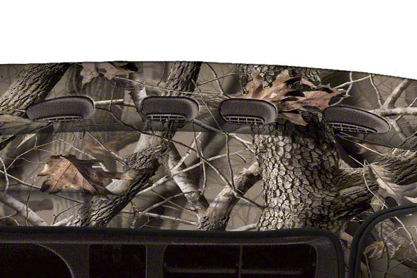 coverking realtree camo velour dashboard cover vent opening