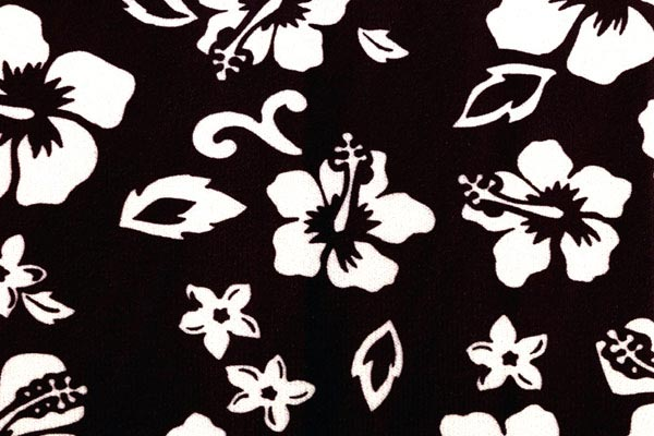 coverking velour hawaiian print dash cover black swatch detail