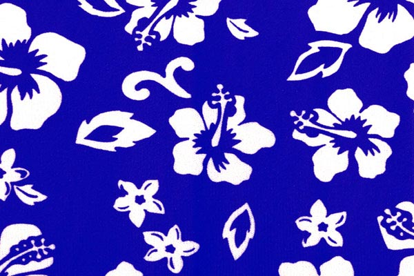 coverking velour hawaiian print dash cover blue swatch detail