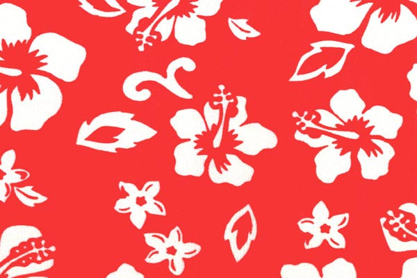 coverking velour hawaiian print dash cover red swatch detail