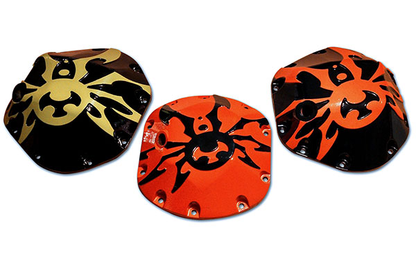 poison spyder differential cover custom painted