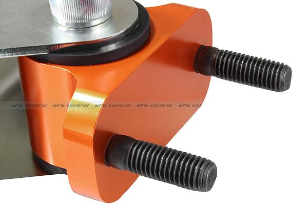 afe control pfadt series transmission mounts orange anodized finish