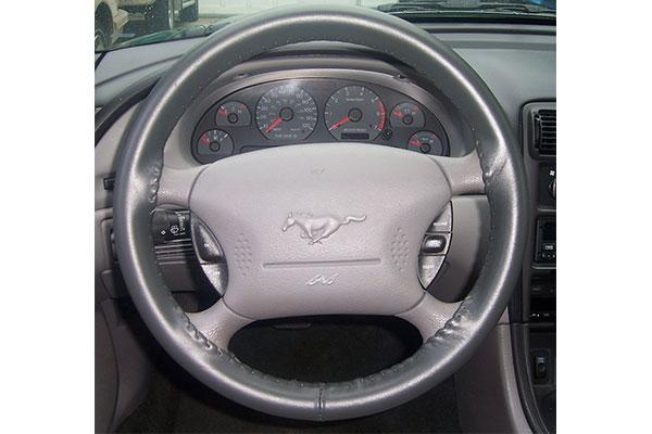 Wheelskins Original Grey on Mustang Wheel