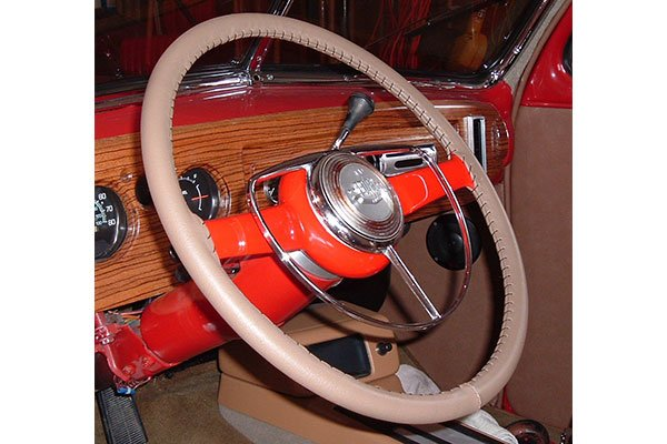 Wheelskins Original Oak on 1946 Ford Wheel