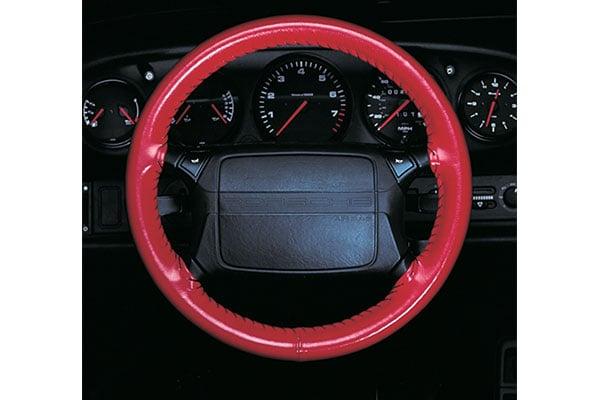 Wheelskins Original Red on Porsche Wheel