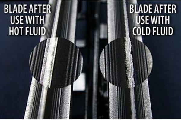 alphatherm windshield washer wiper blades after test