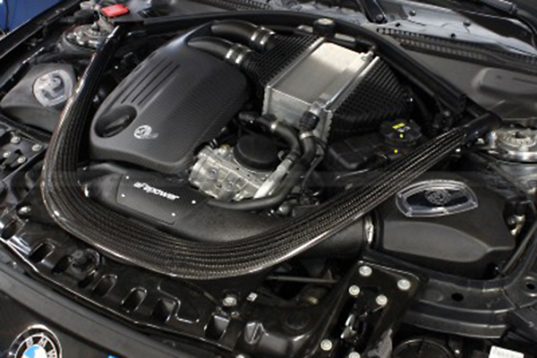 afe carbon fiber engine covers 3 series installed