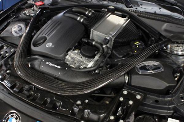 afe carbon fiber engine covers 3 series installed