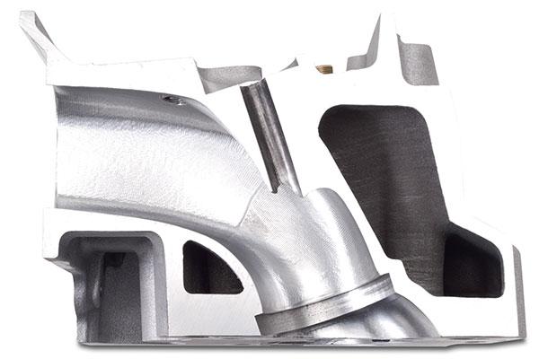 edelbrock big victor cylinder heads intake cutaway