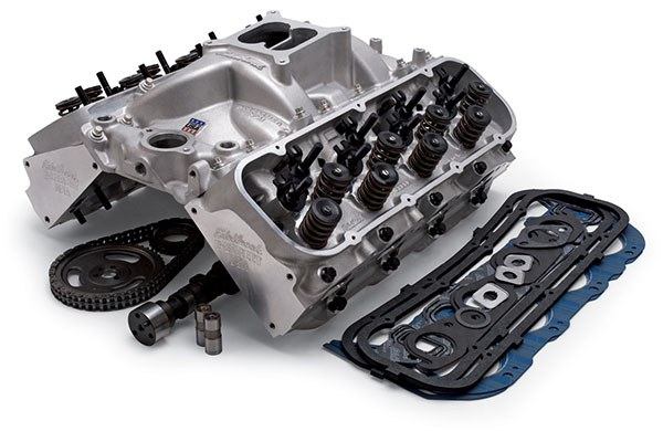 edelbrock e street power package top end kit assembled
