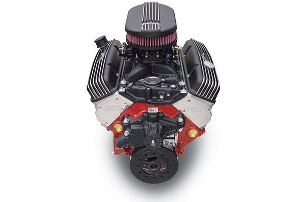 edelbrock performer classic 310 crate engine front