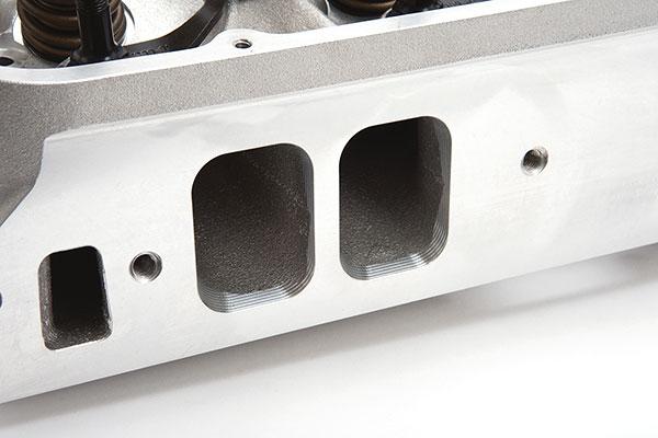 edelbrock victor cylinder heads intake port