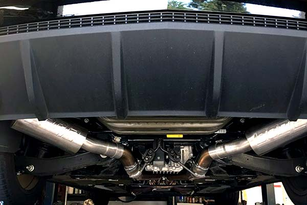 Borla S Type Axle Back Exhaust Installed on 2012 Chevy Camaro SS 6.2