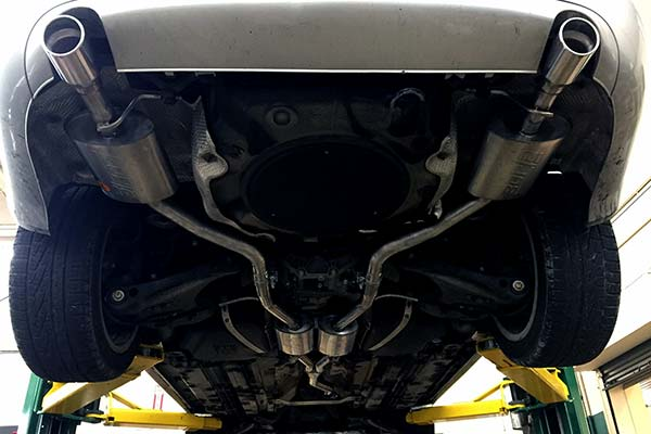 Borla S Type Cat Back Exhaust Installed on 2008 Audi A4 Quattro
