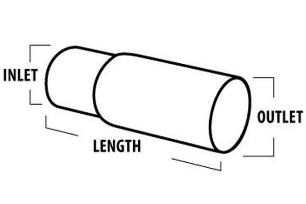 borla dual round intercooled tip tailpipe tip measurement