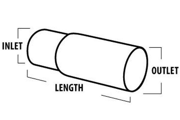 borla round turndown turnout exhaust tip tailpipe tip measurement