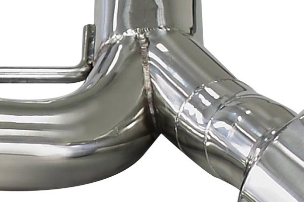 dc sports Exhaust Robotic Weld Close Up