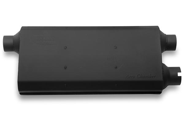 hooker aero chamber mufflers black