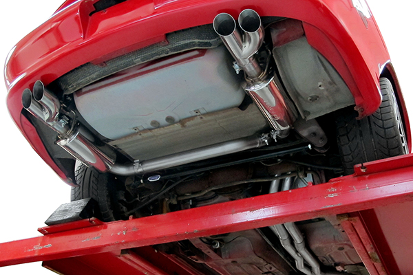hooker exhaust systems installed under car