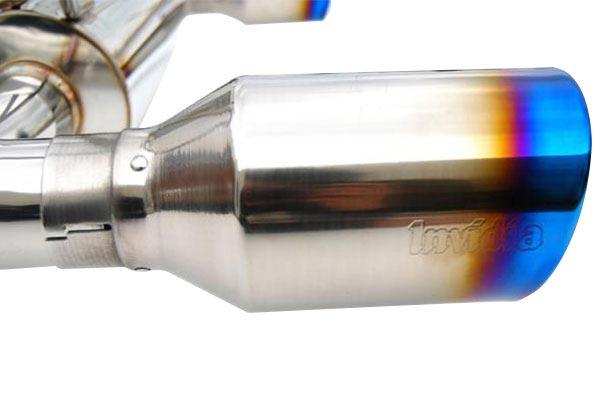 invidia catback burnt titanium tip