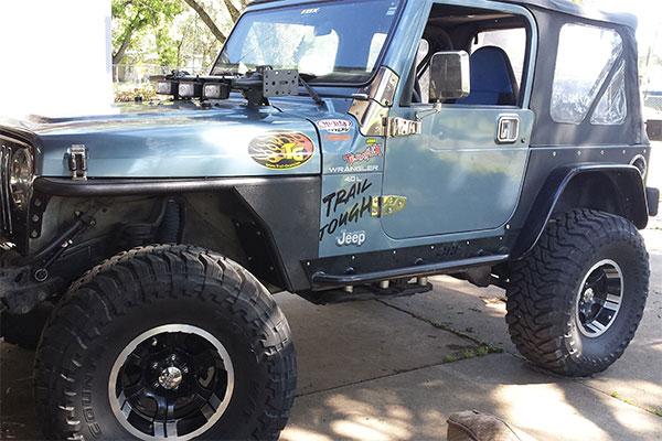 7155 smittybilt xrc front tube fenders 97 jeep wrangler
