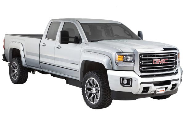 bushwacker boss fender flares pocket style installed sierra