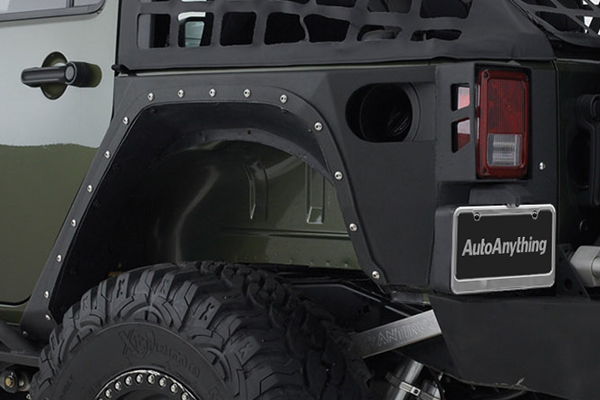 smittybilt xrc armor corner guards rear detail