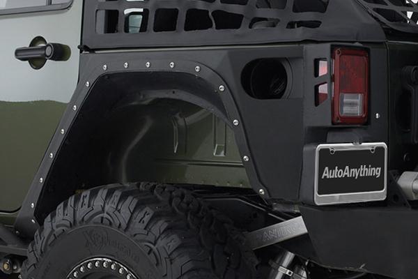 smittybilt xrc armor corner guards rear detail