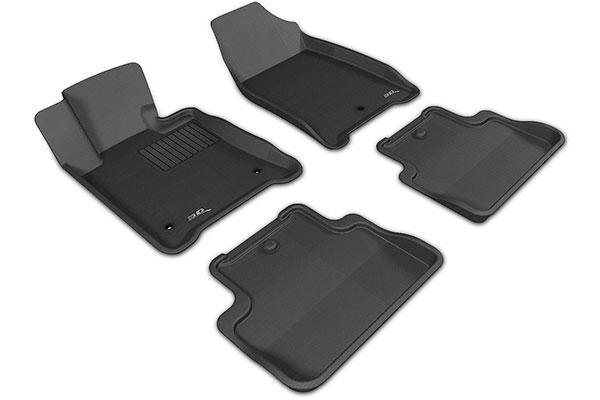 3D MAXpider Complete Set Custom Fit All-Weather Floor Mat for Select Lincoln Navigator Models Kagu Rubber Black