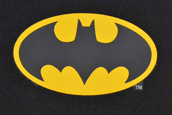 bdk batman floor mats logo detail
