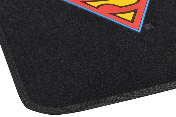 bdk superman floor mats mat fringe detail