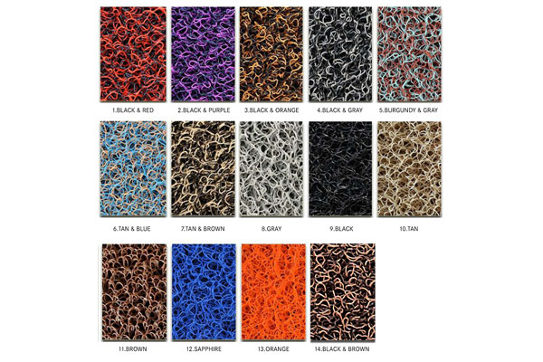 broadfeet coil floor mats all color swatch