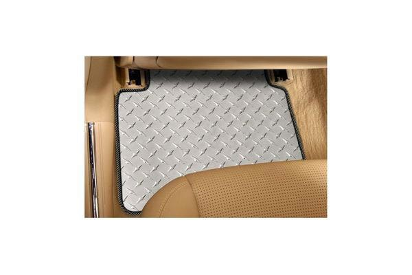 designer mat diamond plate floor mats rear