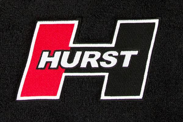 hurst floor mats logo detail