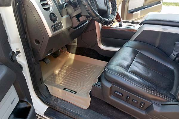 Husky WeatherBeater Floor Liners Installed in 2010 Ford F-150 - Customer Submitted Image