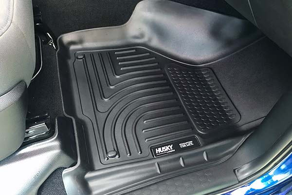 Husky WeatherBeater Floor Liners Installed in 2017 Dodge Ram w/ Dual Retention Hooks - Customer Submitted Image