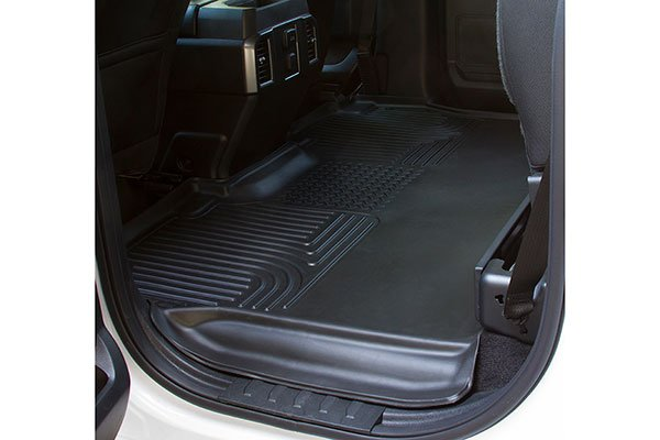 2016 Ford F150 rear black husky floor mat seat folded up