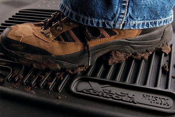 husky x act contour floor liners mud