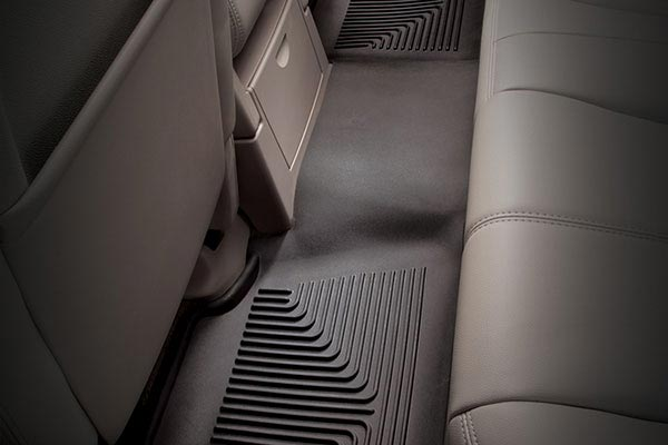 Single-piece rear X-act Contour Floor Mats line your back seat for total protection