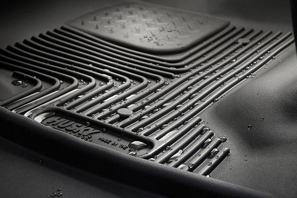 Husky X-act Contour Floor Liners Trapping Water, Preventing Spills